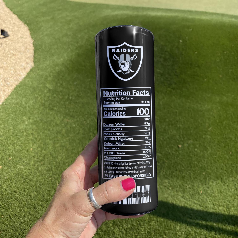 NFL Las Vegas Raiders Monster Energy Skinny Tumbler Cup