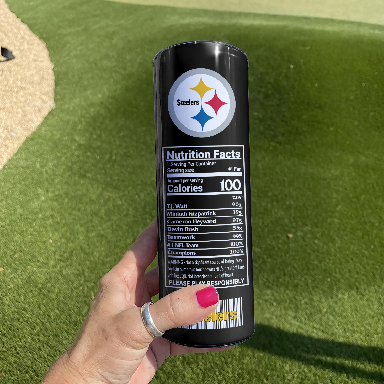 NFL Pittsburgh Steelers Monster Energy Skinny Tumbler Cup