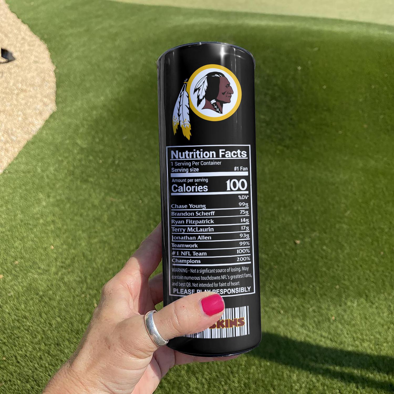 NFL Washington Football Monster Energy Skinny Tumbler Cup