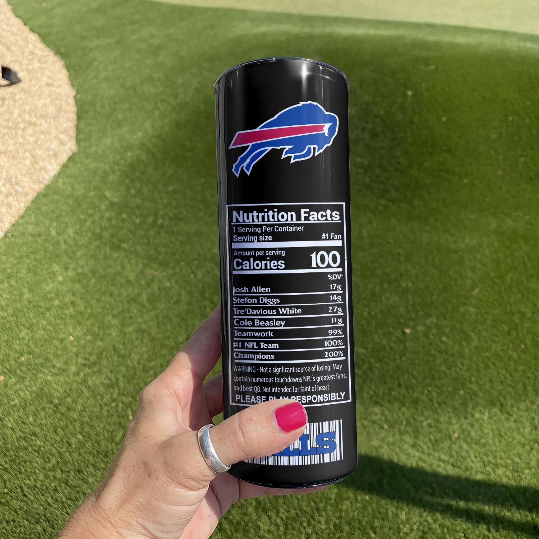 NFL Buffalo Bills Monster Energy Skinny Tumbler Cup