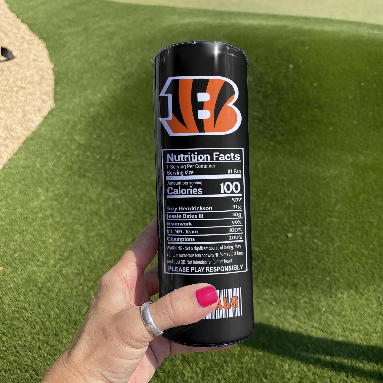 NFL Cincinnati Bengals Monster Energy Skinny Tumbler Cup