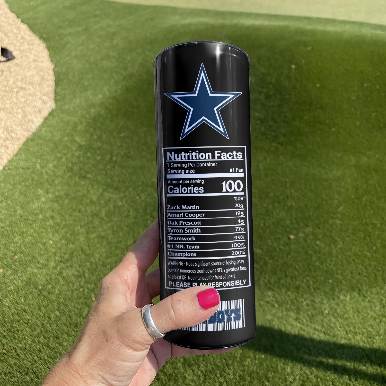 NFL Dallas Cowboys Monster Energy Skinny Tumbler Cup