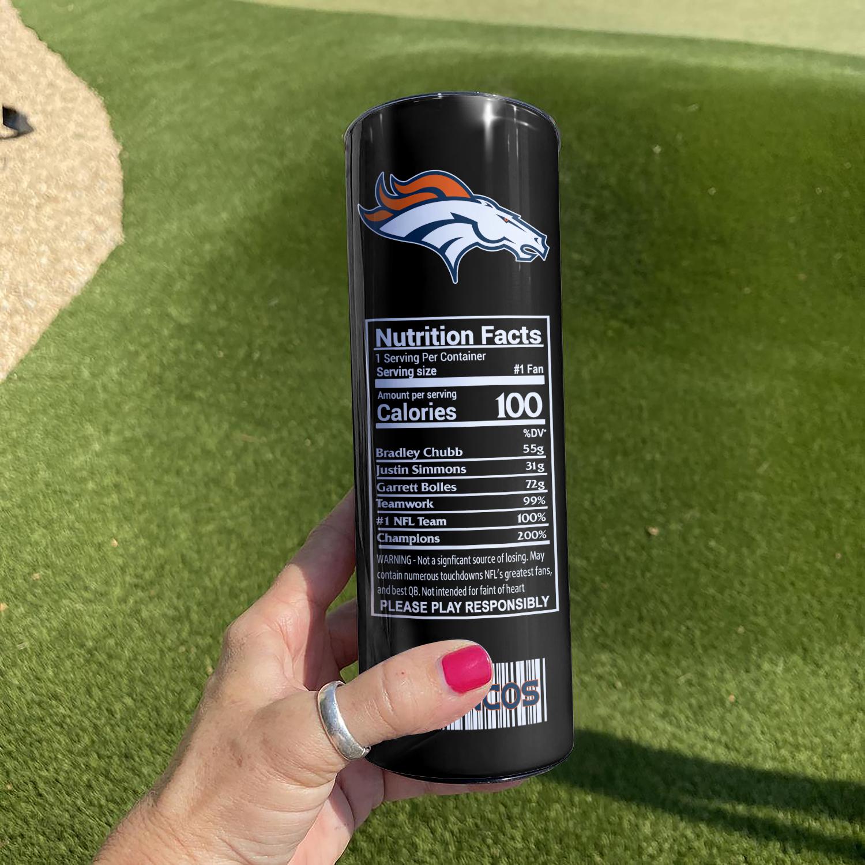 NFL Denver Broncos Monster Energy Skinny Tumbler Cup