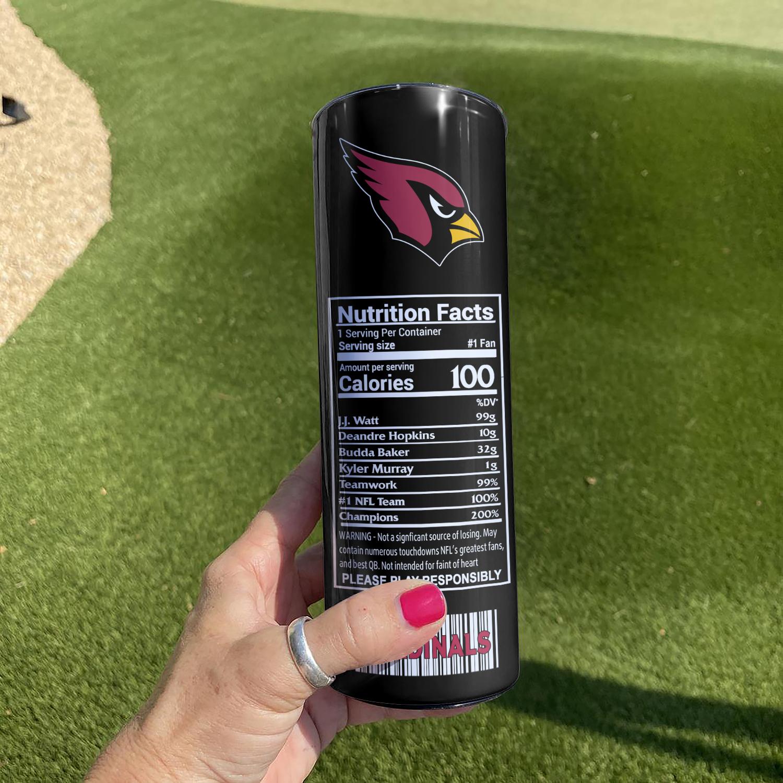 NFL Arizona Cardinals Monster Energy Skinny Tumbler Cup