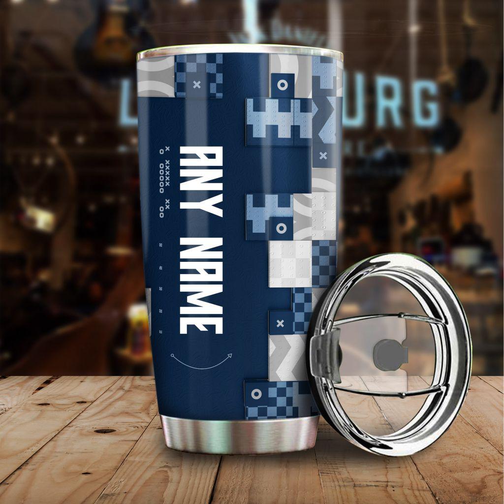 NFL Custom Name Dallas Cowboys tile style Stainless steel Tumbler