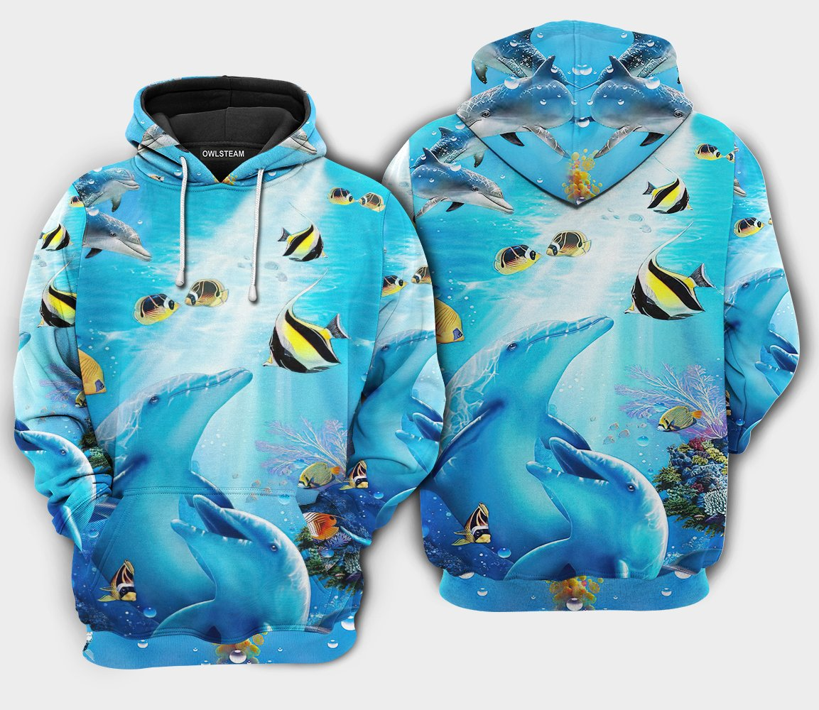 Amazing Dolphin In the heart of ocean 3D Printed Hoodie
