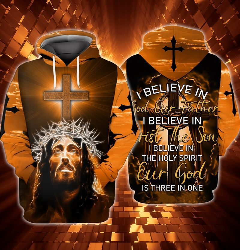 I believed in God my father 3D hooide T-shirt