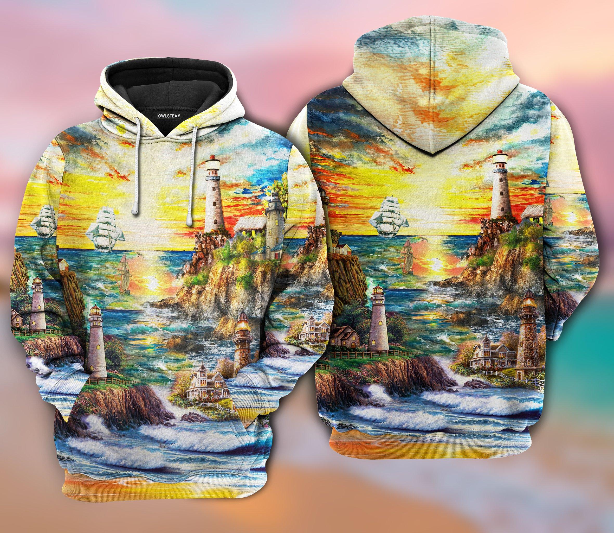 Lighthouse Love Ocean Hoodie