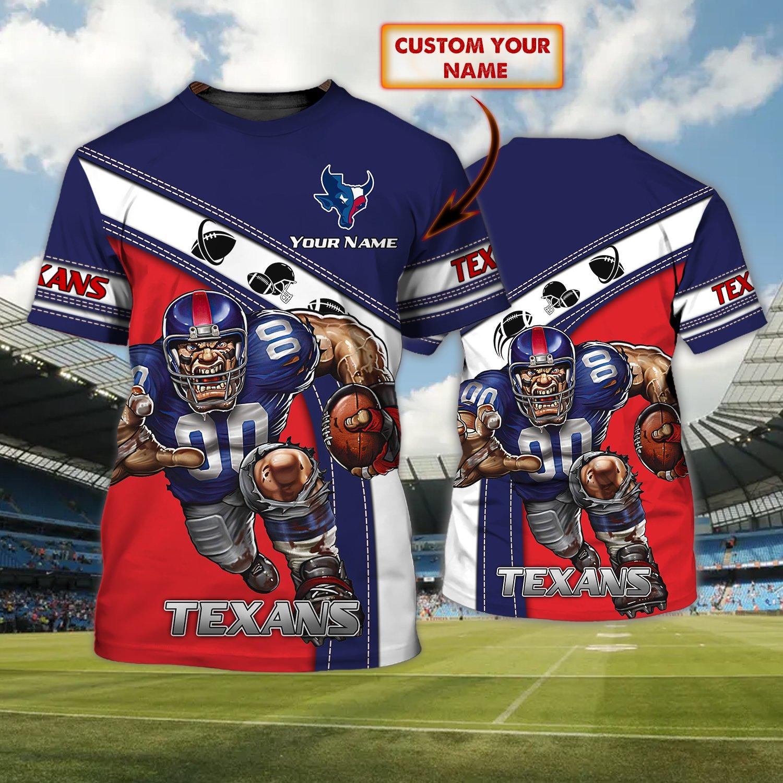 Custom Name Houston Texans AOP 3D T-shirt