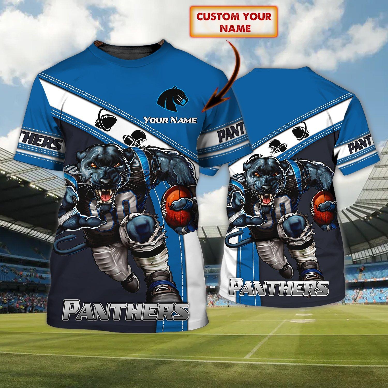 Custom Name Nfl Carolina Panther strong player 3D T-shirt
