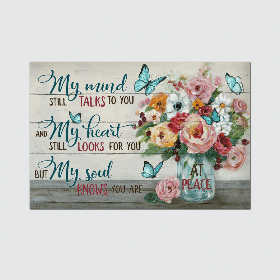 MY MIND STILL TALK TO YOU - JESUS Flower vase poster and canvas