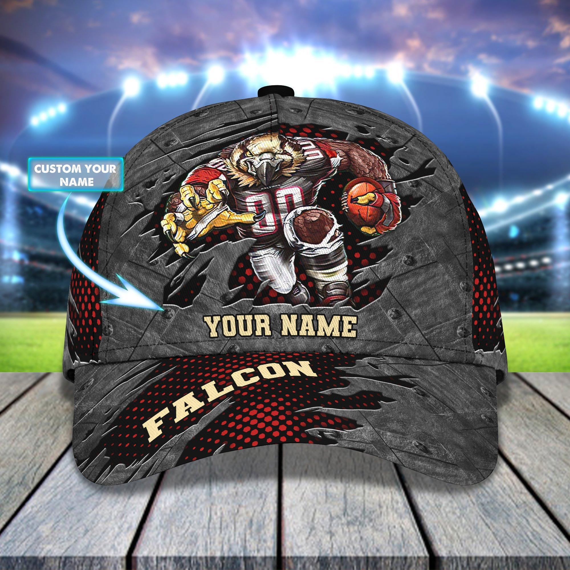 Custom Name NFL Atlanta Falcons Rushing Full Printed Cap