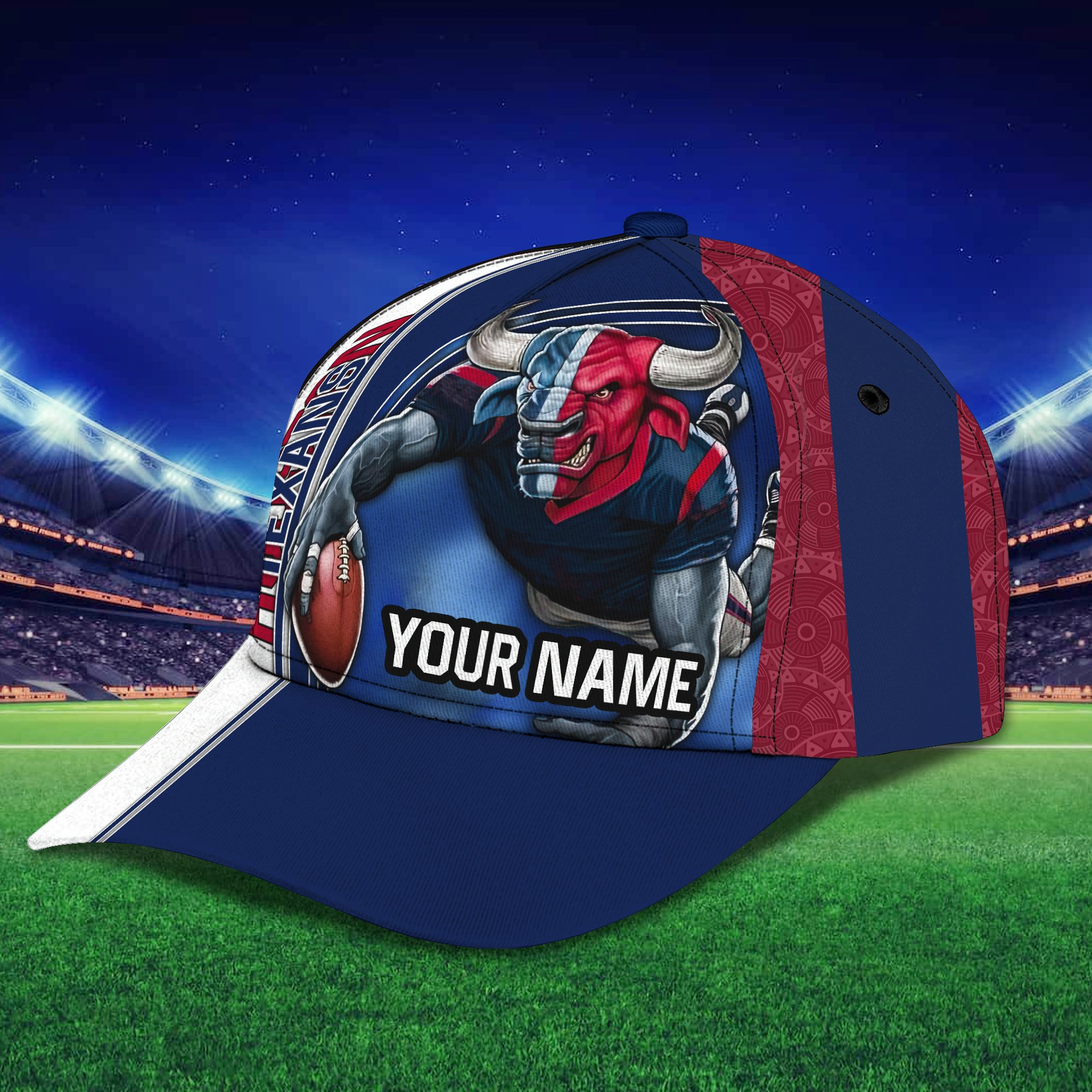 Personalized Name NFL Houston Texans Full Printed Cap for fans
