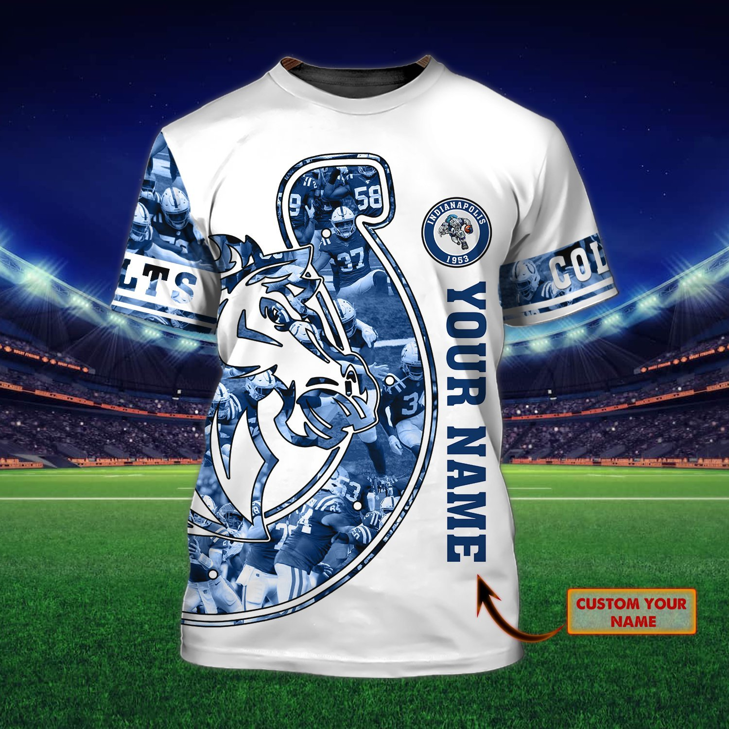 Personalized Name Nfl Indianapolis Colts 3D T-shirt