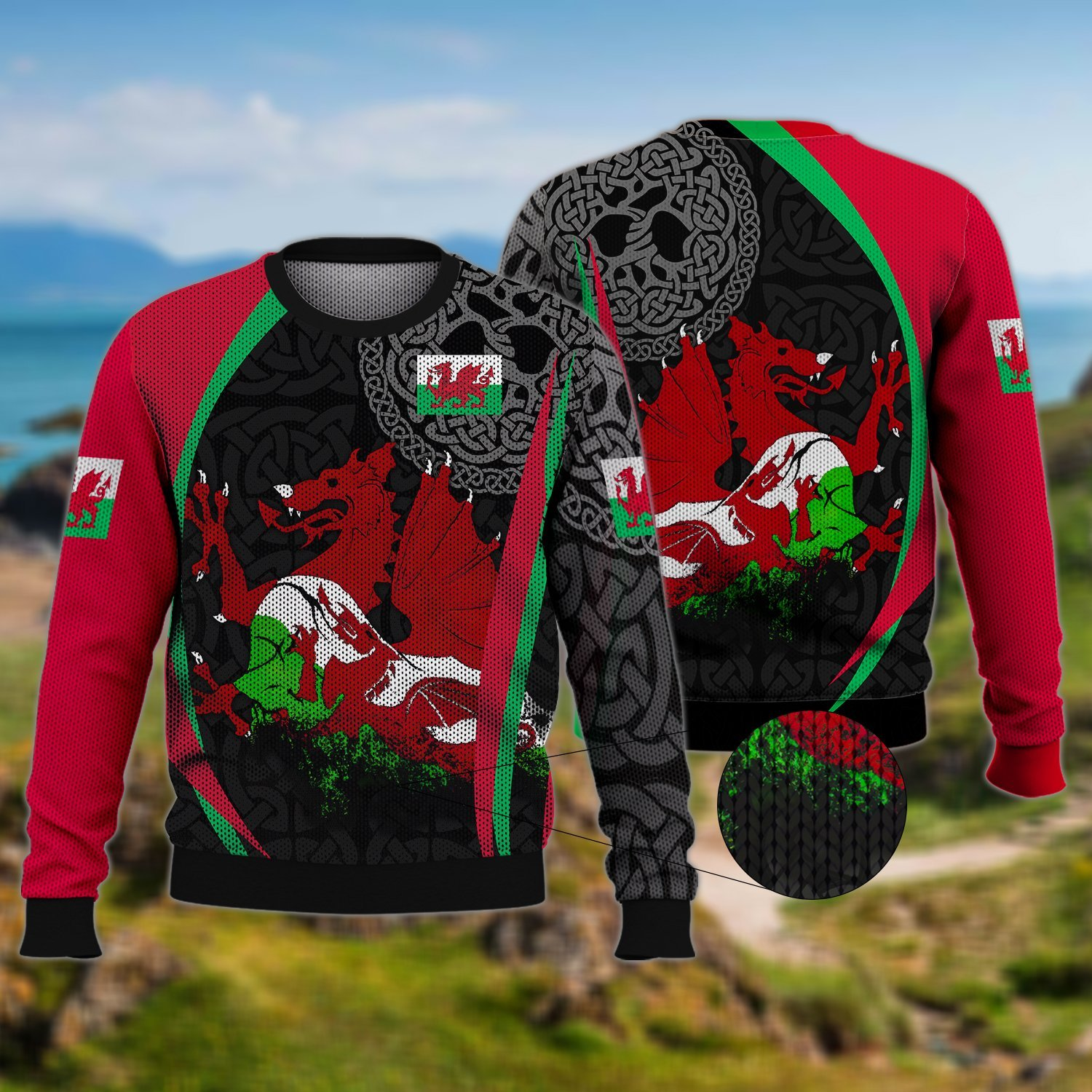 WALES RED DRAGON UGLY SWEATER