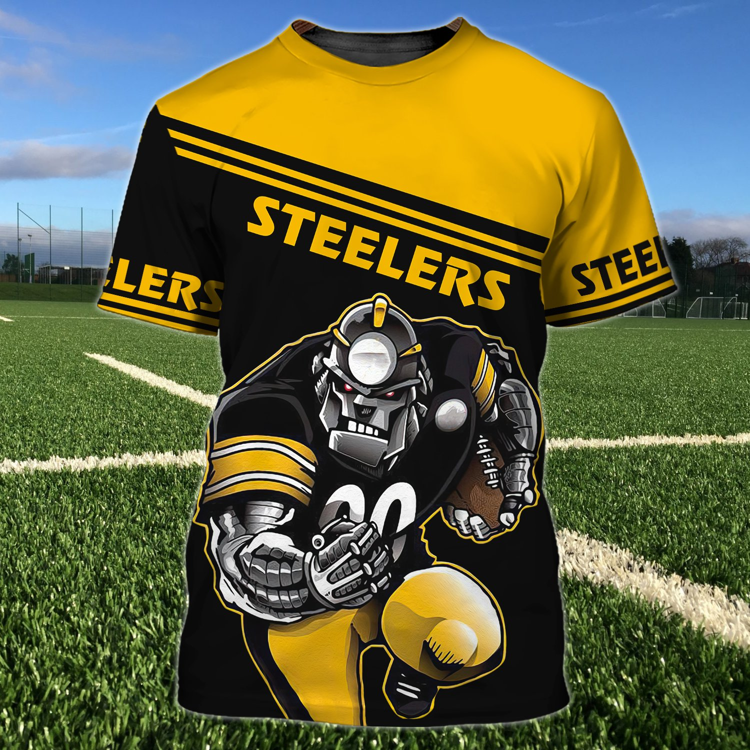 Custom Name Number Pittsburgh Steelers Thanos 3D T-shirt