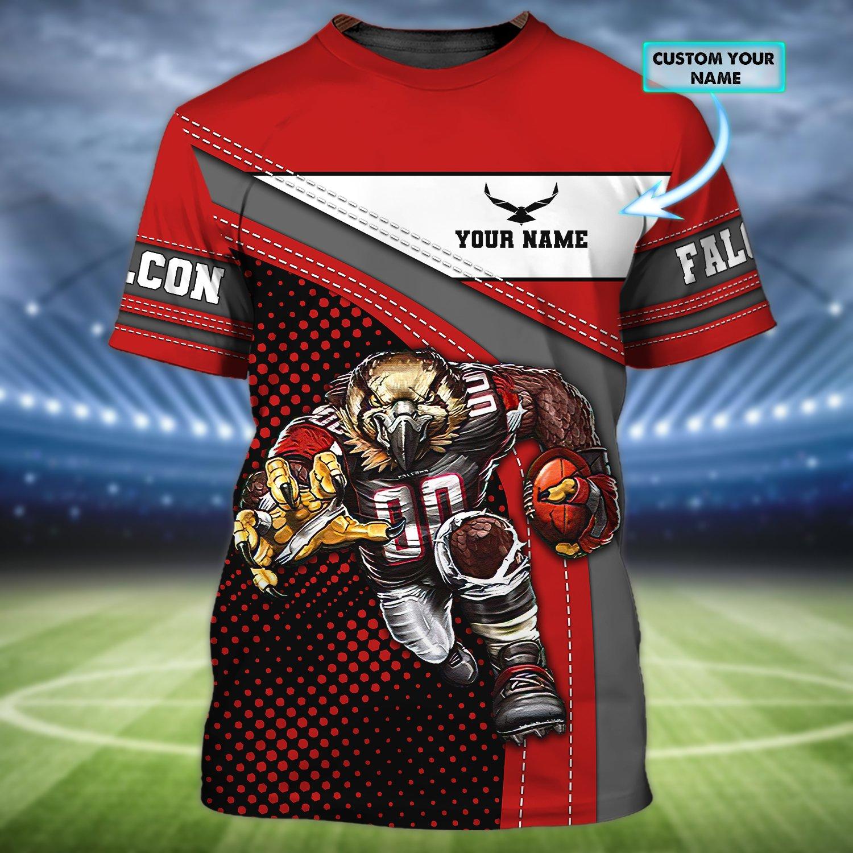 Personalized NFL Atlanta Falcons Rushing 3D T-shirt