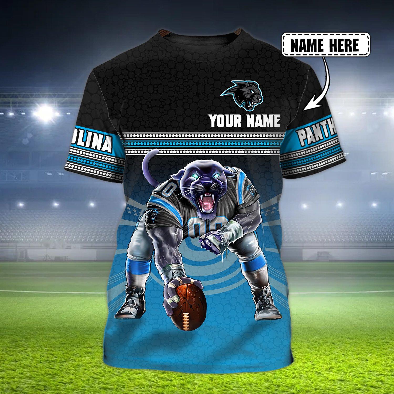 Custom Name Nfl Carolina Panther 3D T-shirt