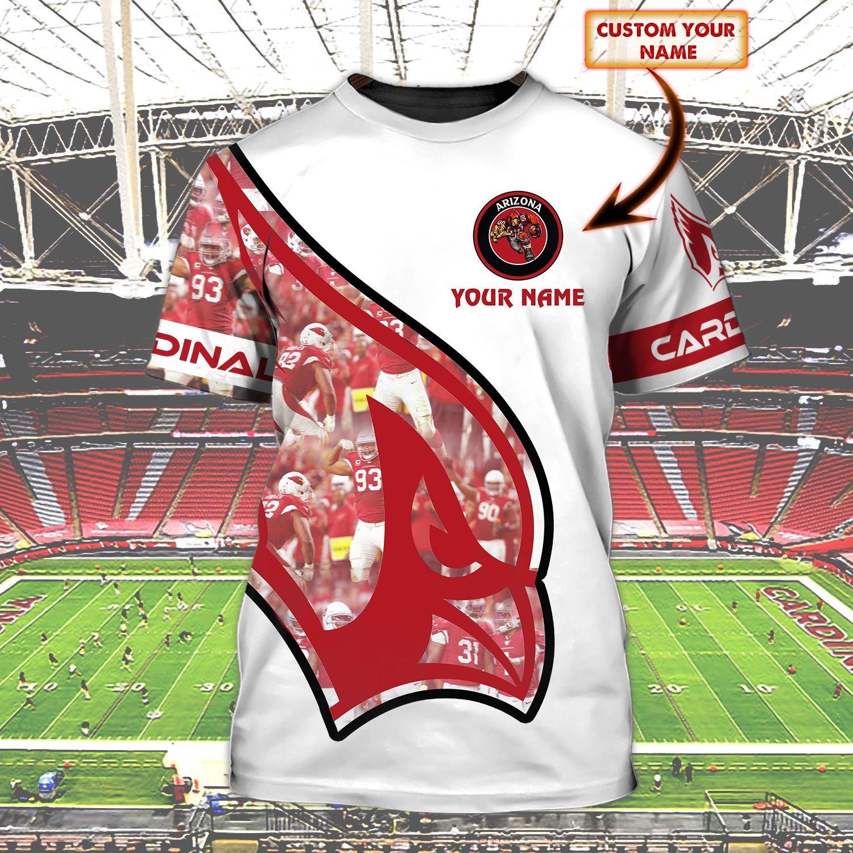Personalized Name NFL Arizona Cardinals 3D T-shirt