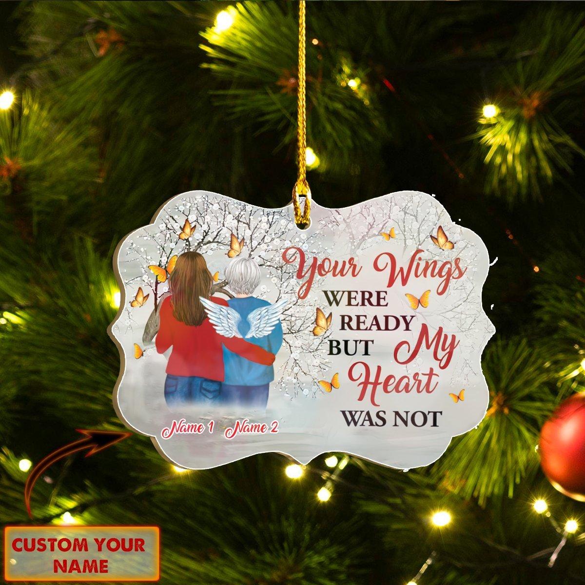 CUSTOM Name Christmas ORNAMENT MOM IN HEAVEN