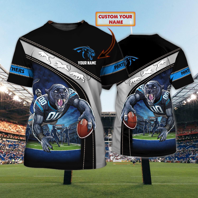 Custom Name Nfl Carolina Panther Touchdown 3D T-shirt