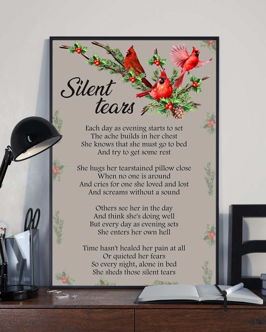 Silent tears north cardinal poster