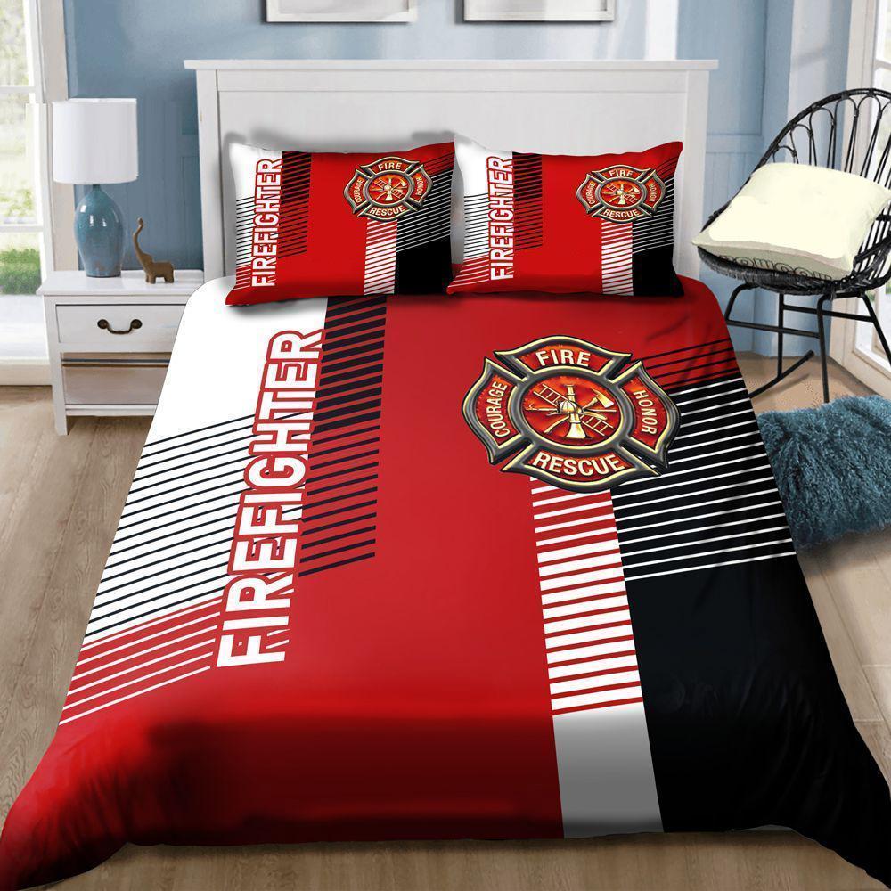 Sweet Firefighter Symbol Bedding Set