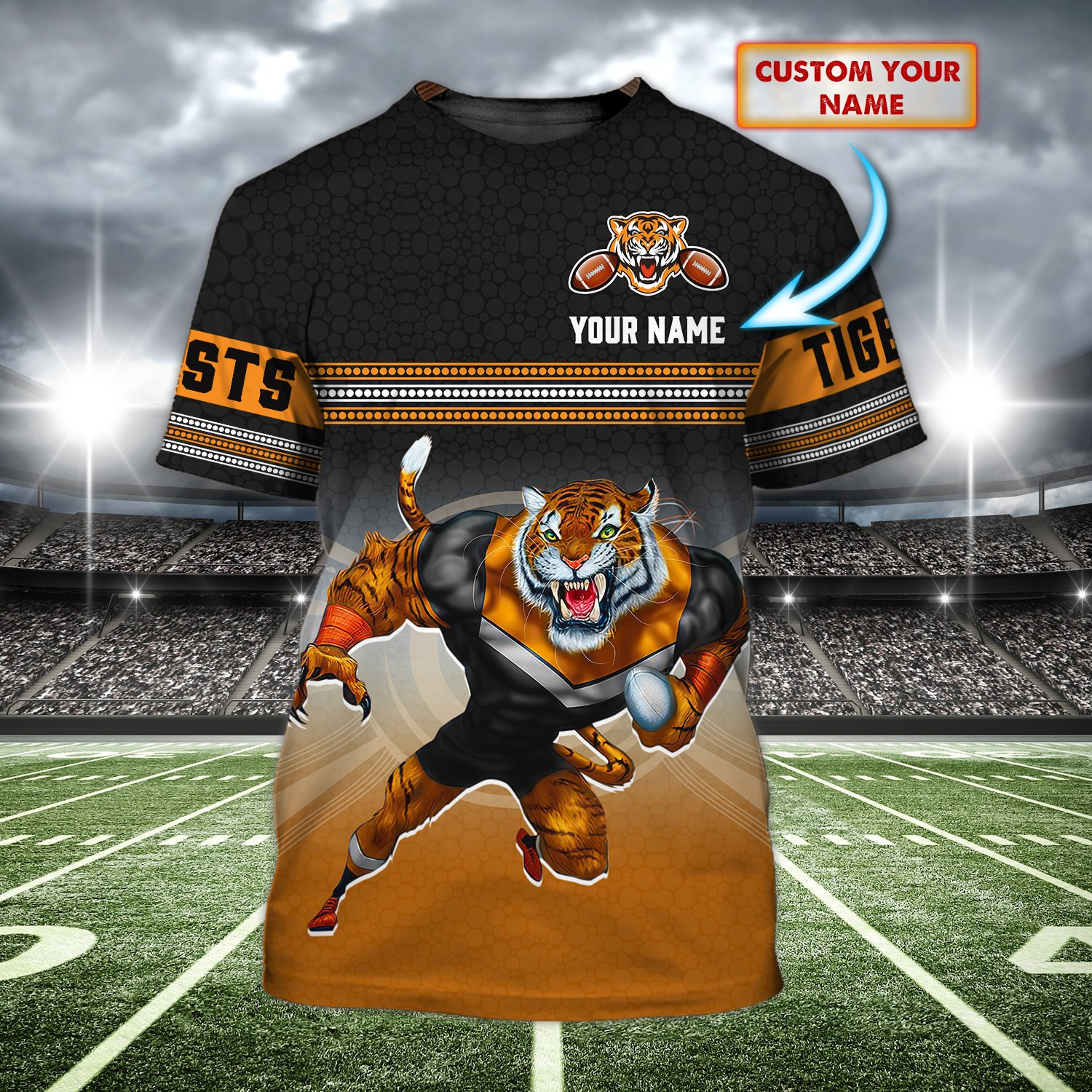 Custom Name Wests Tigers Limited 3D T-Shirt
