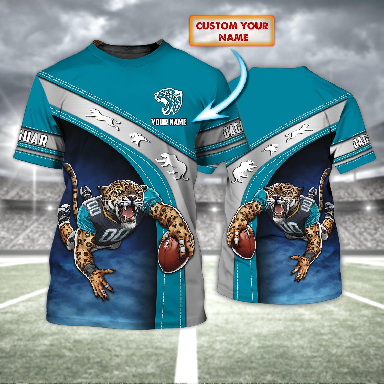 Custom Name NFL Jacksonville Jaguars 3D T-shirt