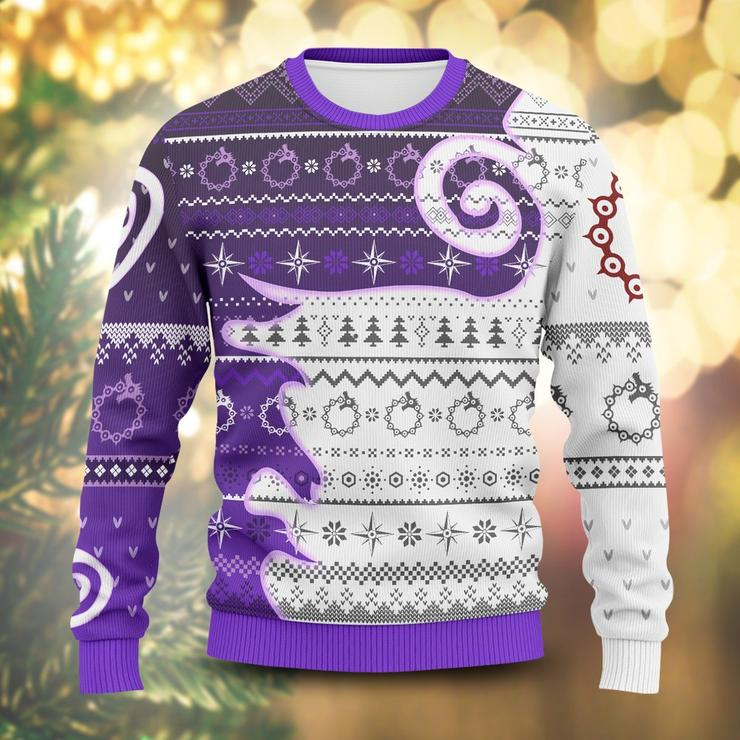 Meliodas Demon Mark Unisex Wool Sweater Xmas Gift