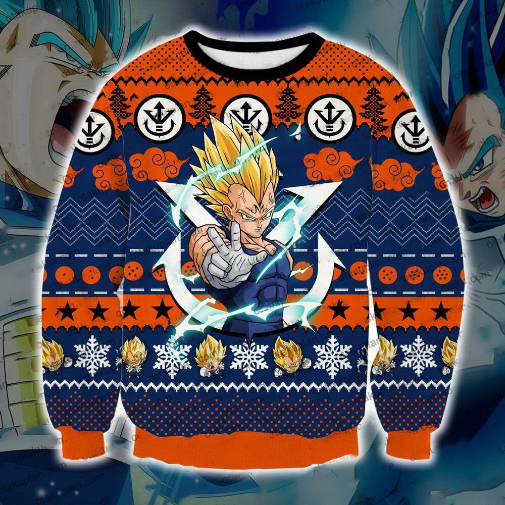 Vegeta Dragon Ball Anime Unisex Wool Sweater Christmas Gift
