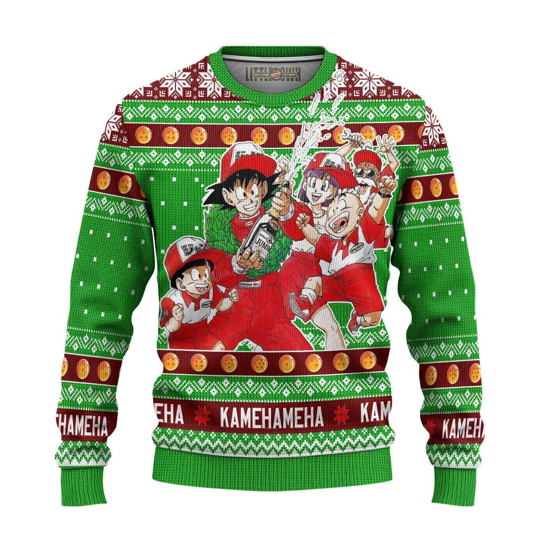 Dragon Ball Champion Kamehameha Unisex Wool Sweater Christmas Gift