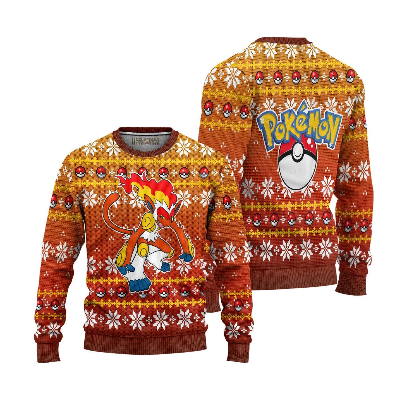 Pokemon Infernape Ugly Christmas Sweater Pokemon Christmas Gift