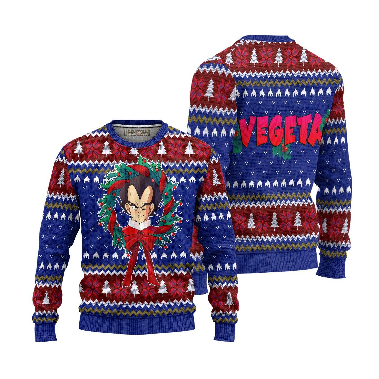Ugly Christmas Sweater Vegeta Dragon Ball Anime Xmas Gift