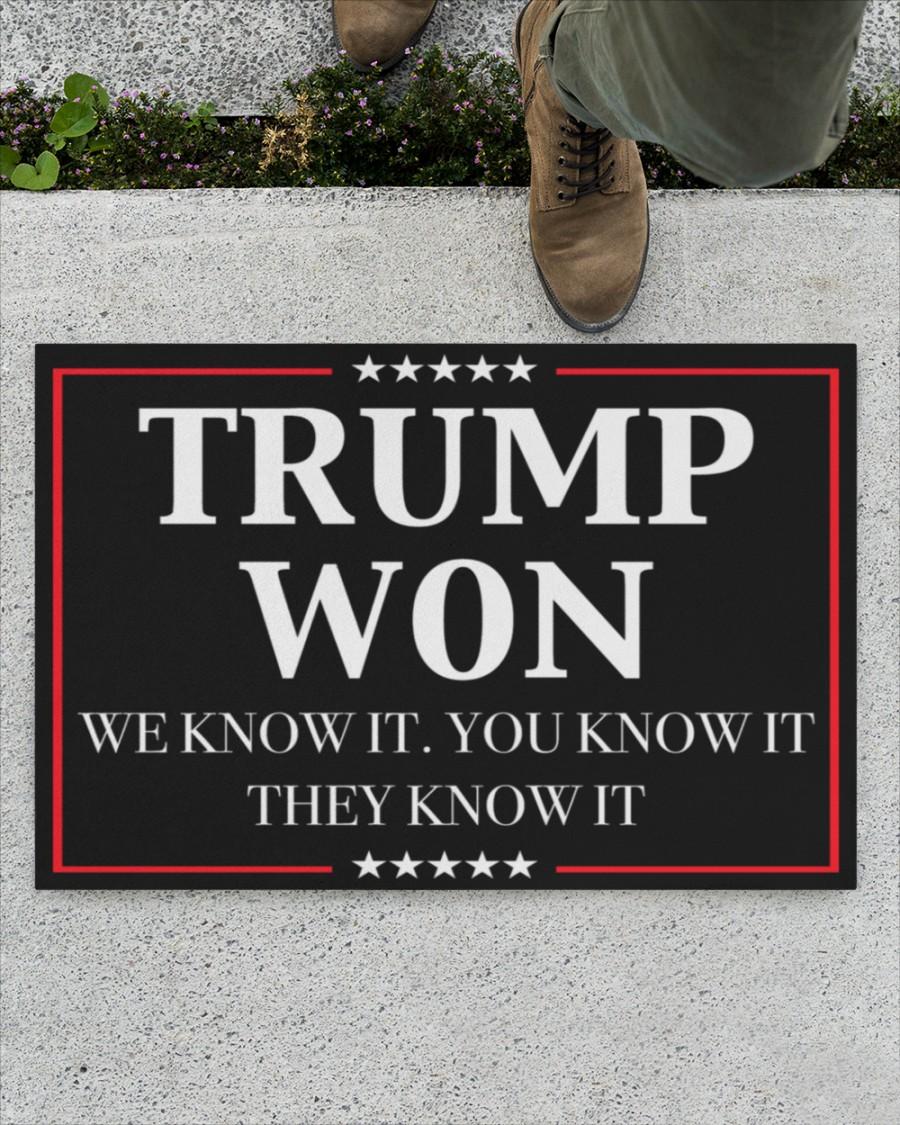 Trump won We know it Doormat