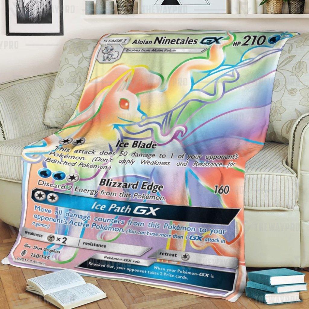 Pokemon Alolan Ninetales GX Guardians Rising Fleece Blanket