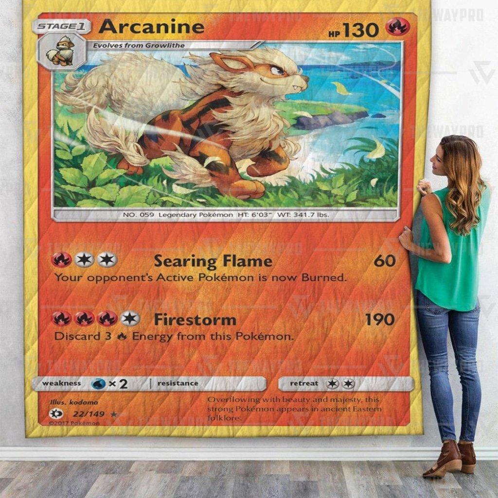 Pokemon Arcanine Premium Quilt Blanket