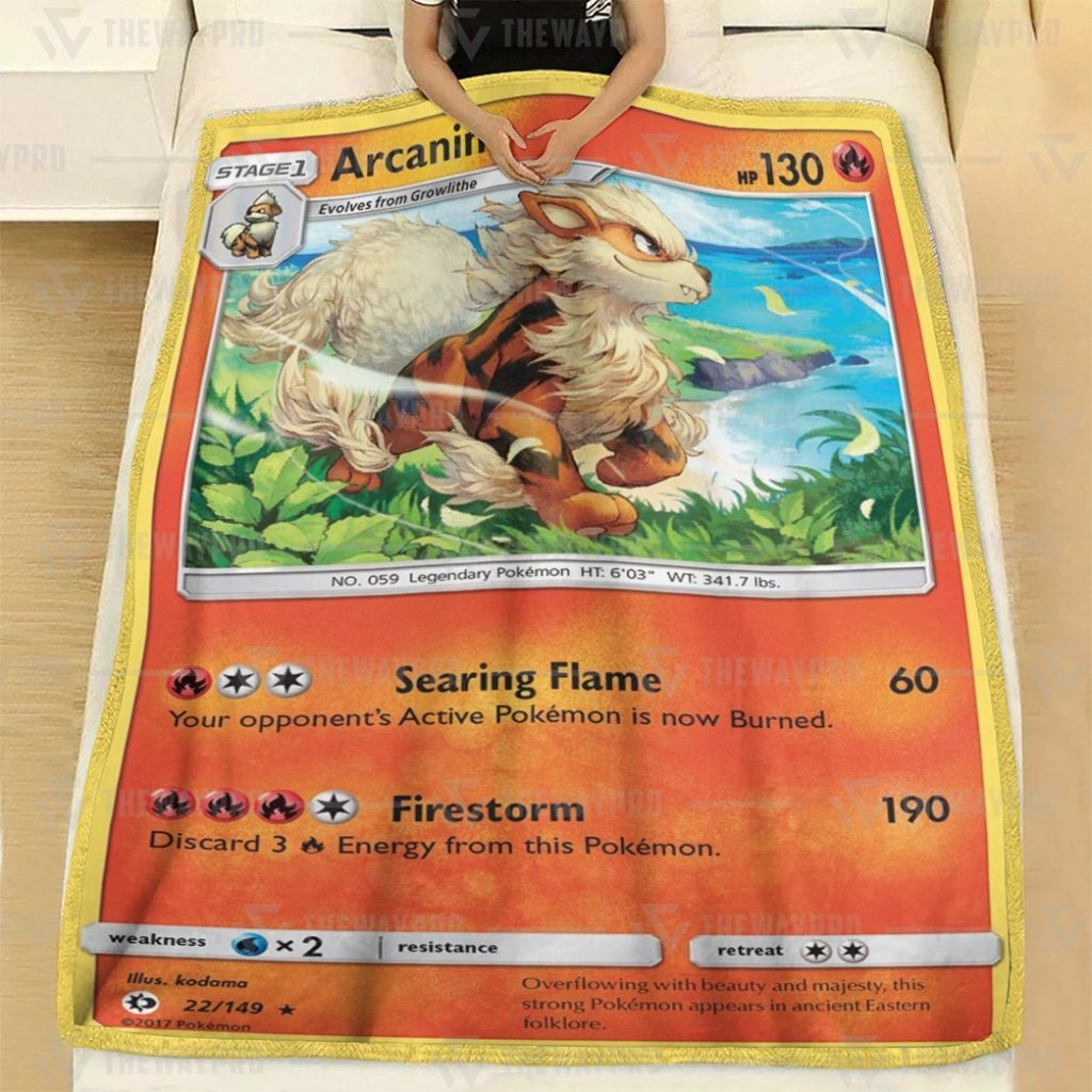 Pokemon Arcanine Fleece Blanket