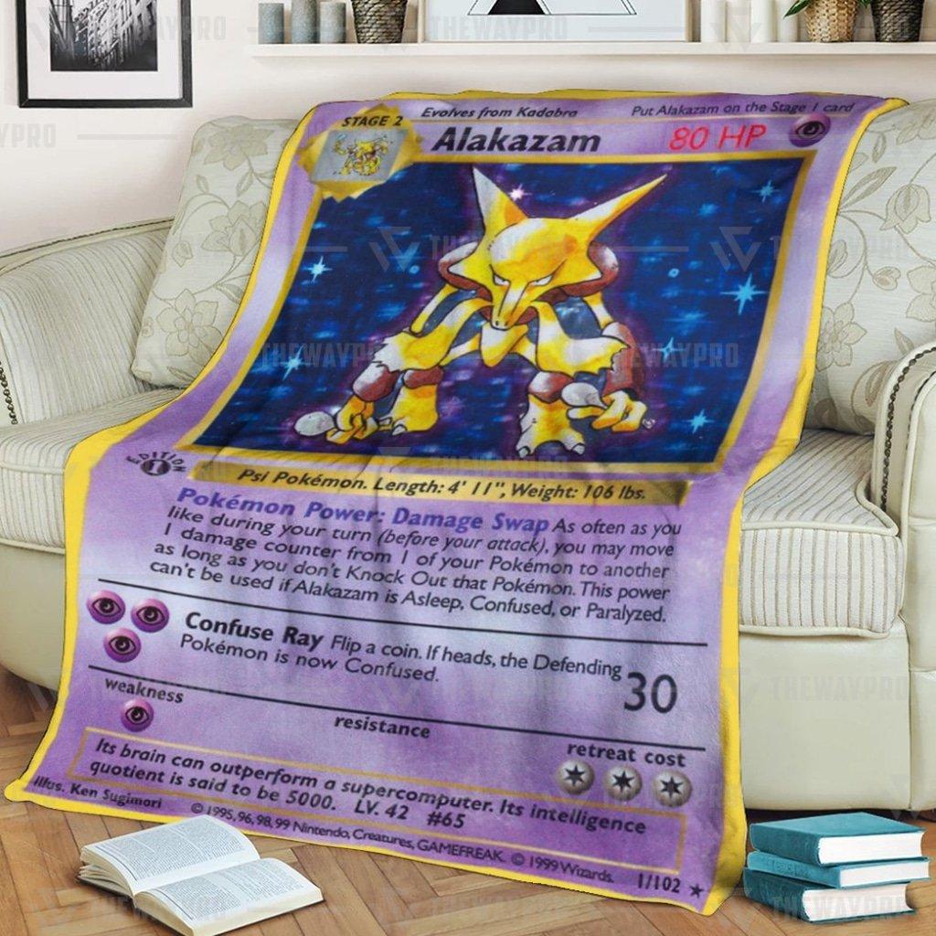 Pokemon Basic Alakazam Fleece Blanket
