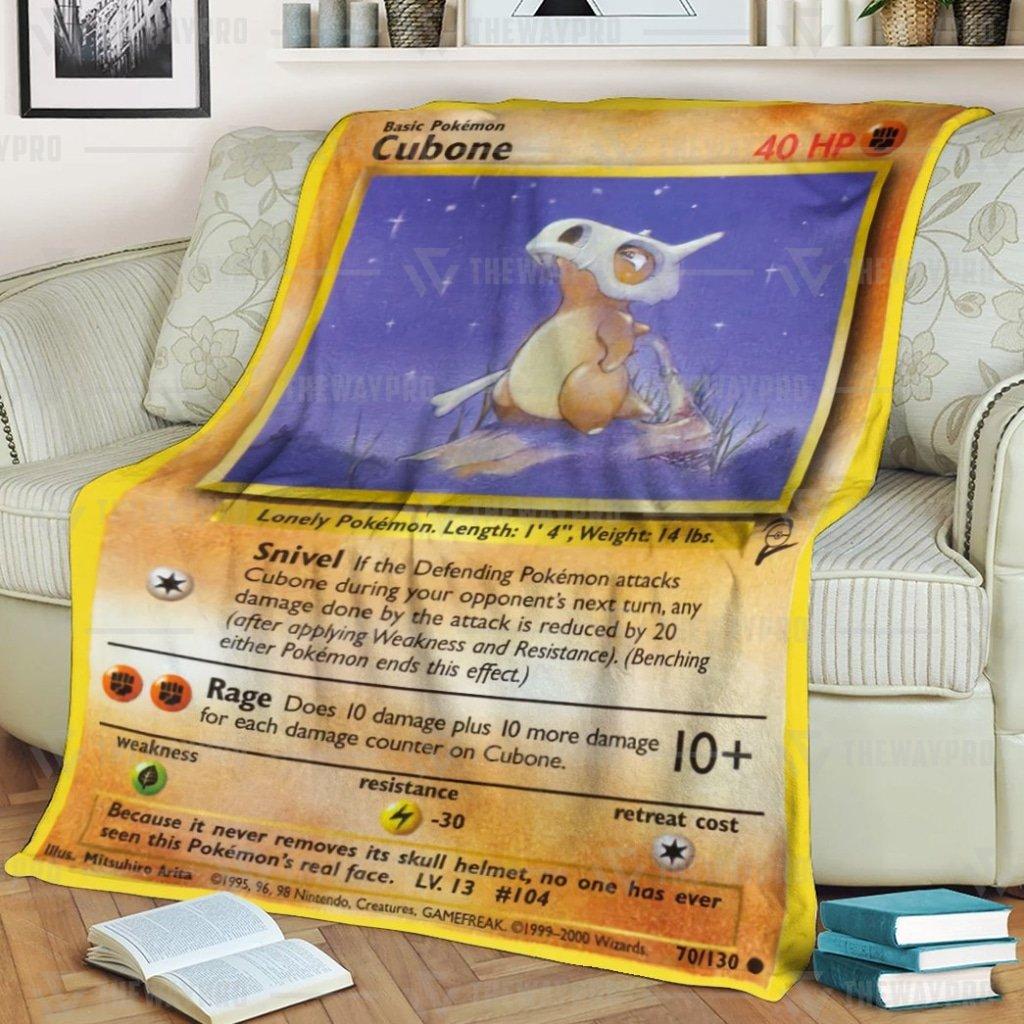 Pokemon Cubone Fleece Blanket