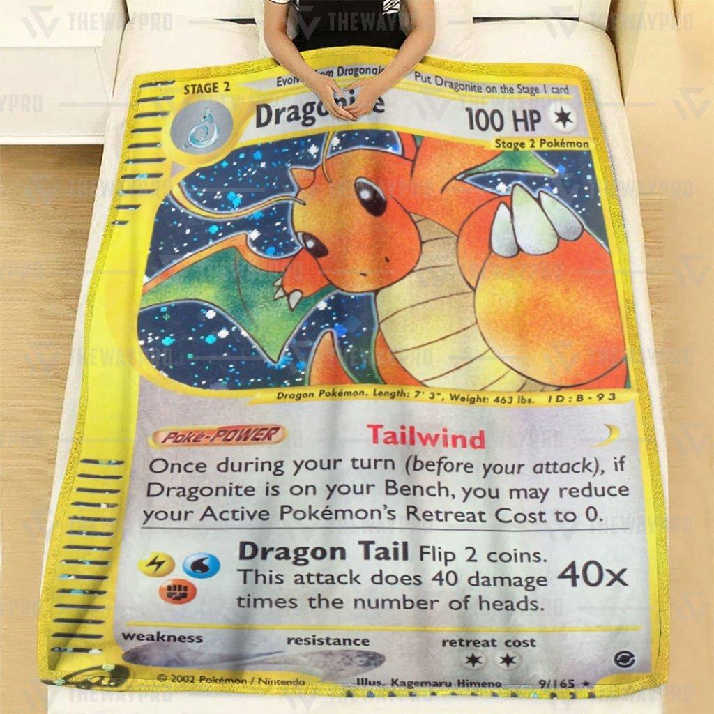 Pokemon Dragonite GX Dragon Claw Fleece Blanket