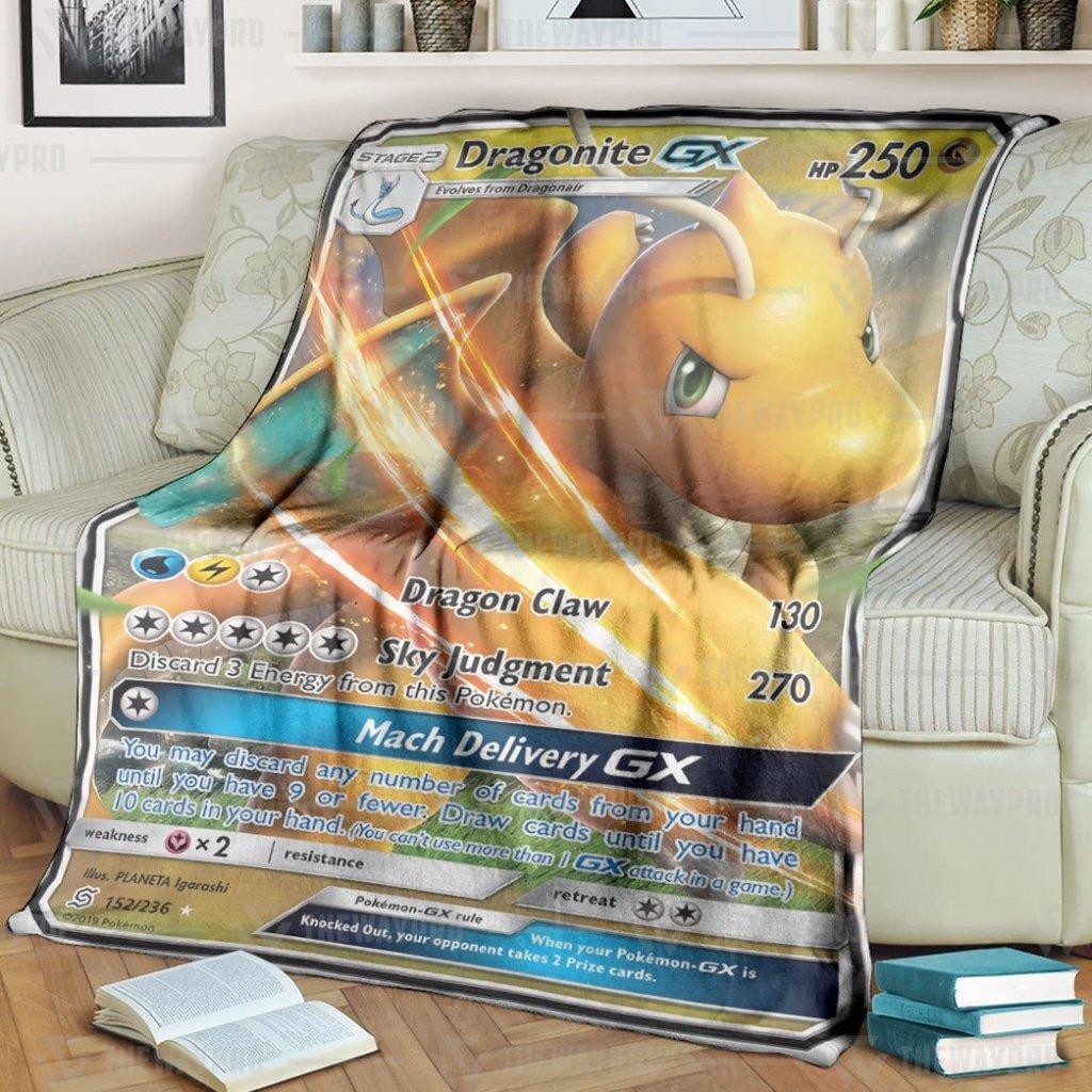 Pokemon Lucario V Fleece Blanket