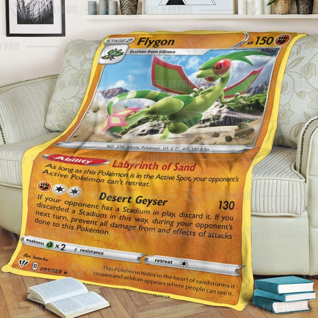 Pokemon Flygon Darkness Ablaze Fleece Blanket