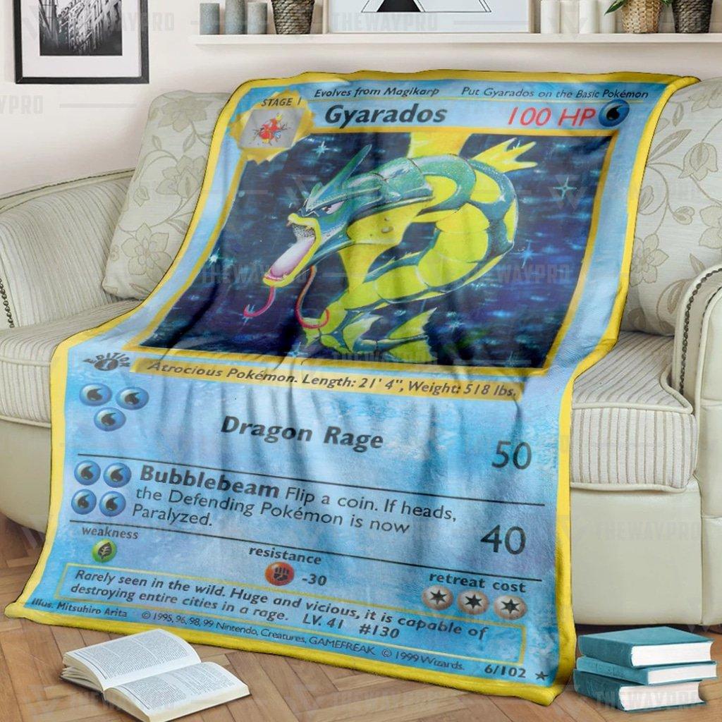 Pokemon Gyarados Fleece Blanket