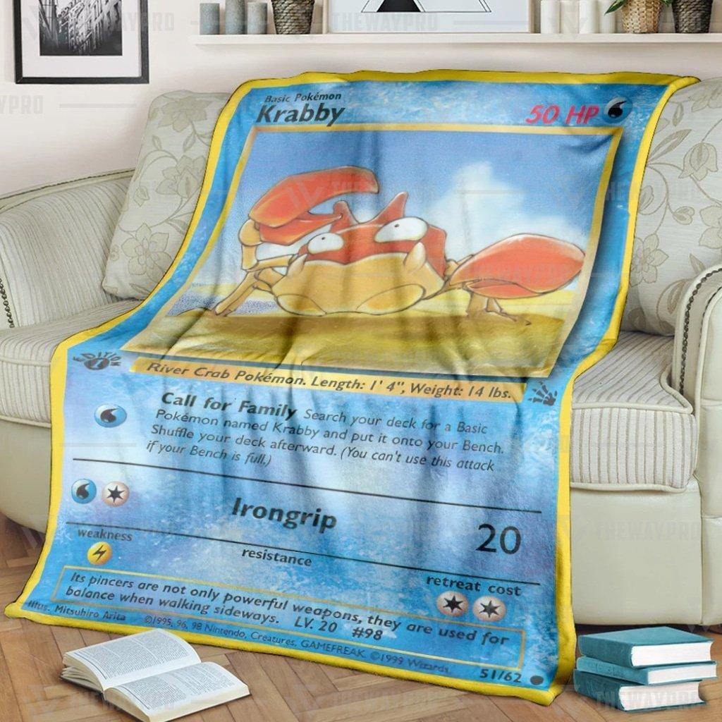 Pokemon Krabby Fleece Blanket