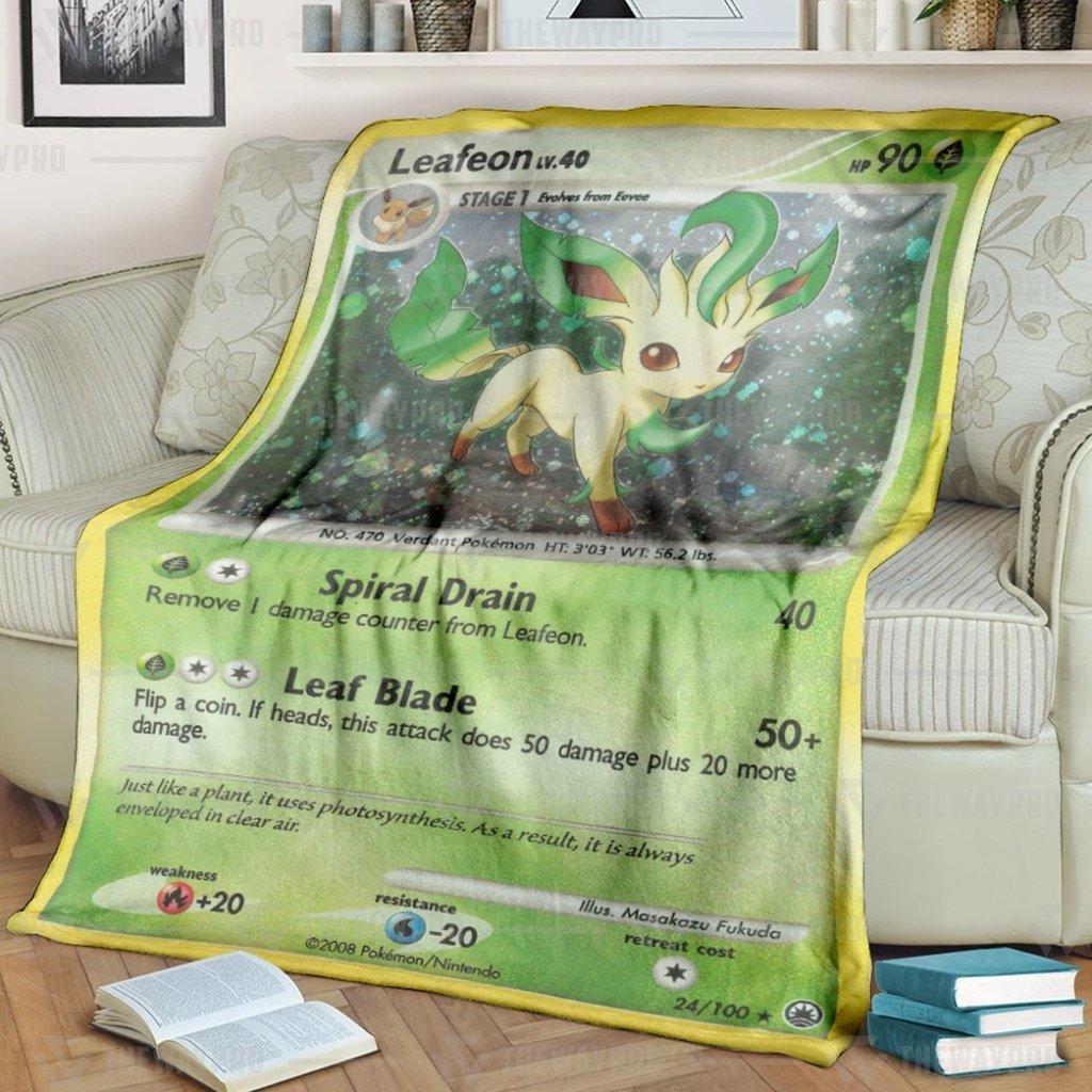 Pokemon Leafeon Fleece Blanket