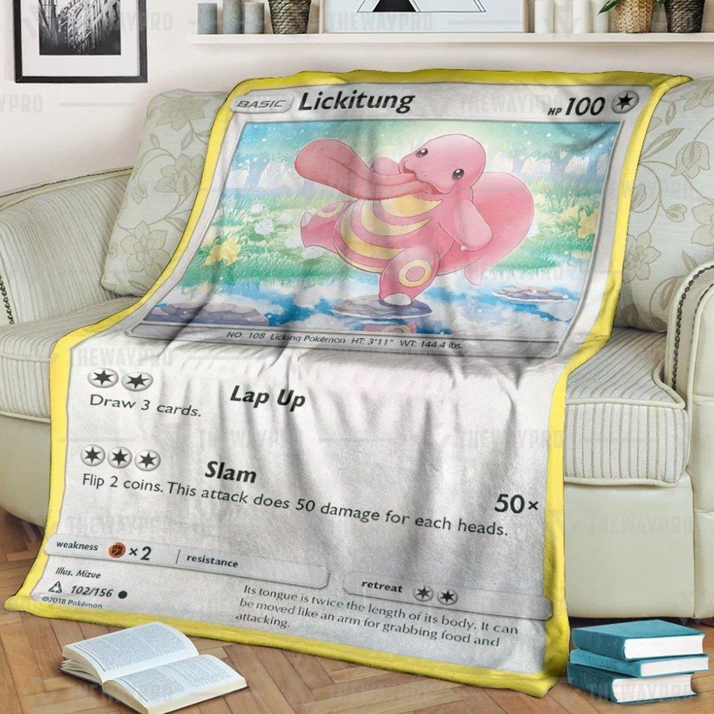 Pokemon Lickitung Fleece Blanket