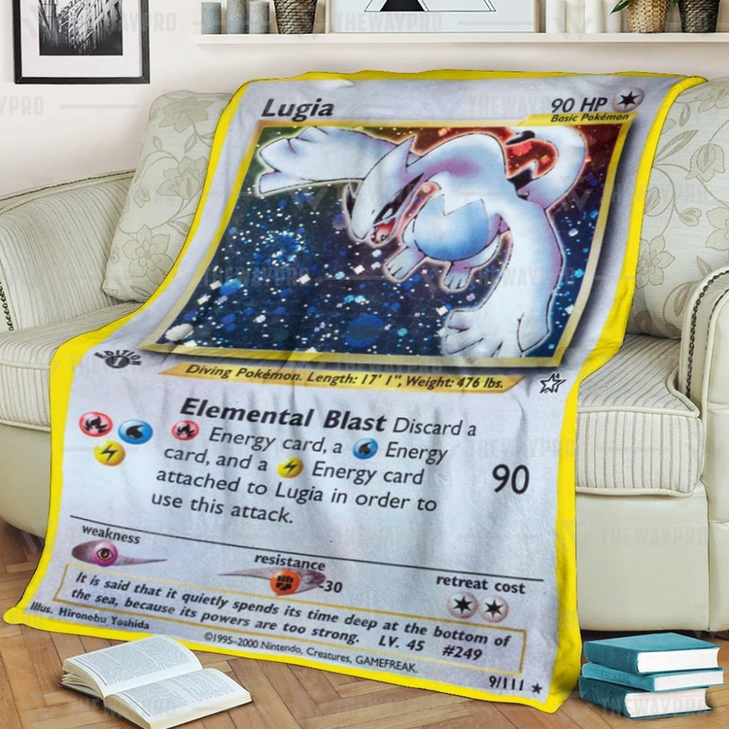 Pokemon Lugia Fleece Blanket