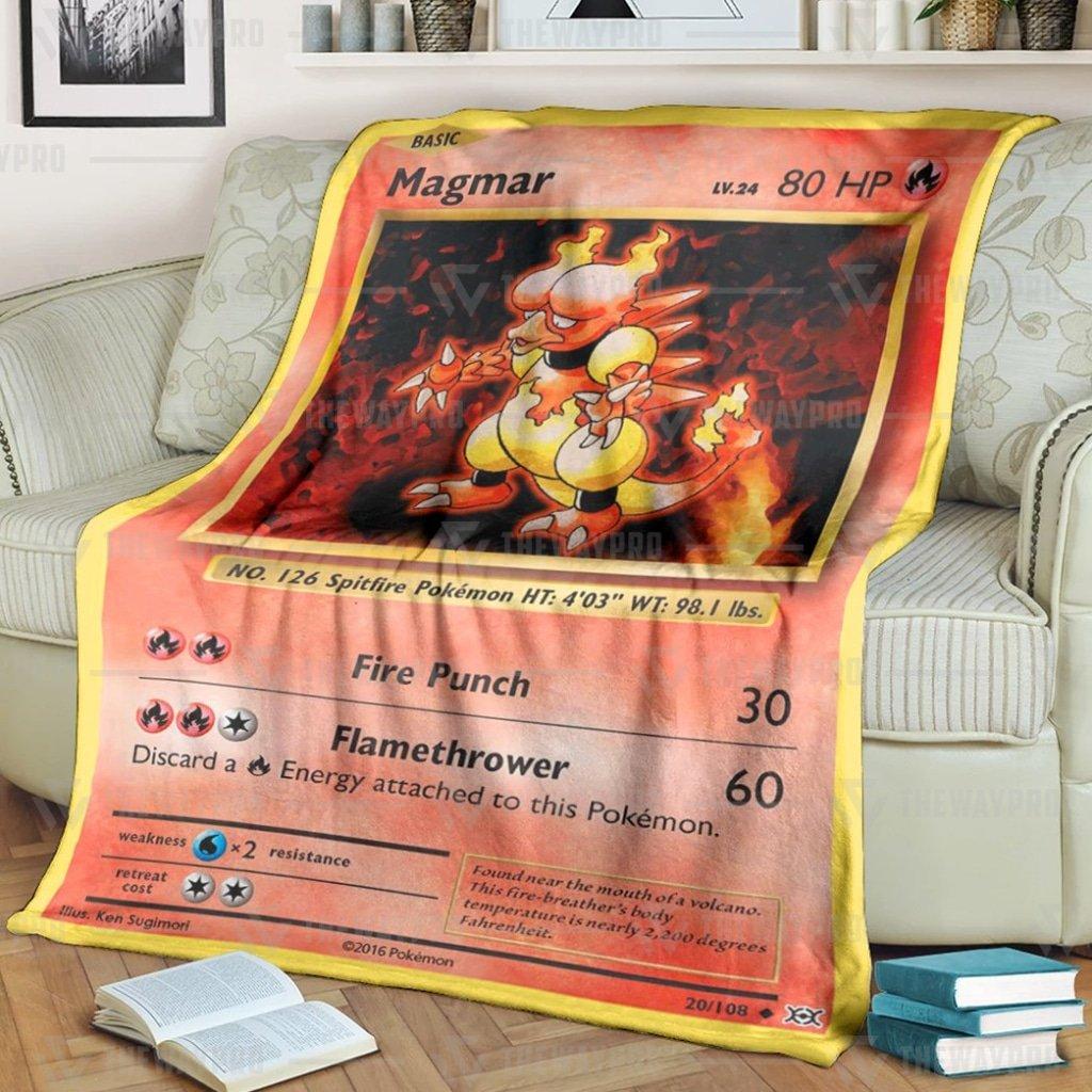 Pokemon Magmar Evolutions Fleece Blanket