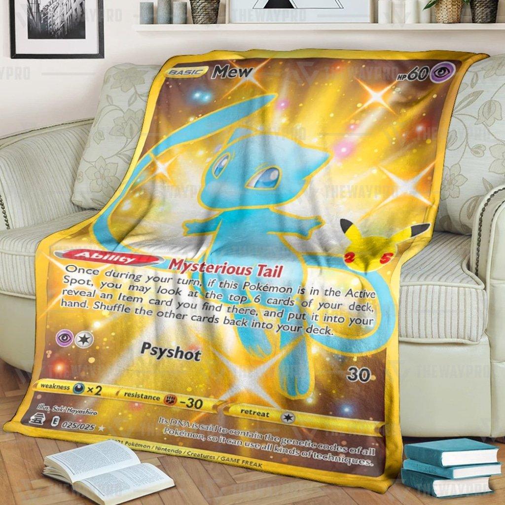 Pokemon Mew Psyshot Fleece Blanket